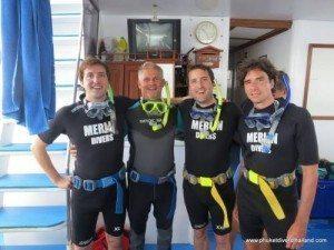 scuba review diving phuket merlin divers